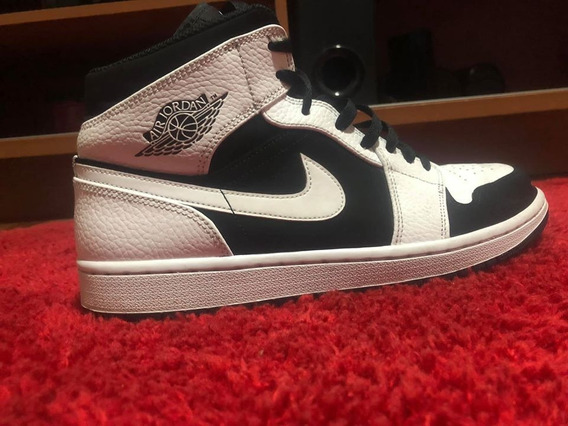 Air Jordan 1 Mid White/black