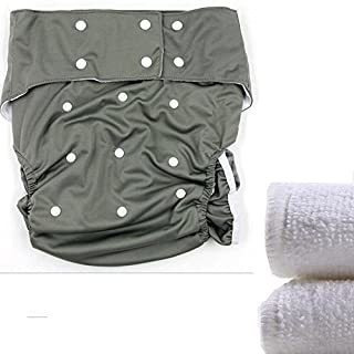 Lukloy - Teen/adults Cloth Diapers Nappy With 2pcs Inserts F