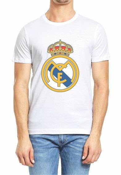 Playera Real Madrid Logo Hombre O Dama