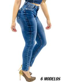 Calça Jeans Feminina Cintura Alta Luxo Premium Lycra Stretch