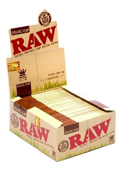 Papel De Armar Raw Organico Slim Papelillo King Size X 10 Un