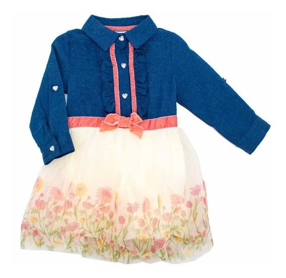 Vestido Floreado Para Niña En Super Oferta 02911