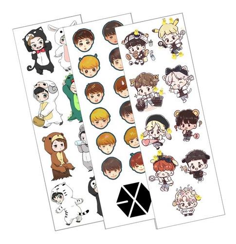 Plancha De Stickers De K-pop De Exo