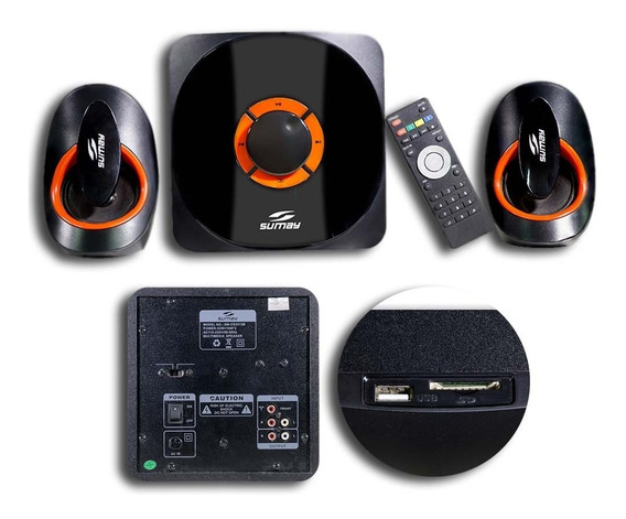 Caixa Multimidia 2.1 Bluetooth 42w Rms Sumay Cs3313b