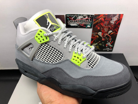 Air Jordan 4 Retro Se Neon Cool Grey (28 Mex)