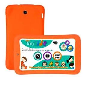 Capa De Borracha Tablet Educacional Dl E-duk Kids Laranja