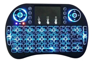 Teclado Inalambrico Retroiluminado Con Mouse Smart Tv Box