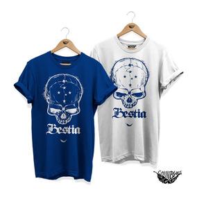 Kit 2 Camisas Cruzeiro La Bestia Caveira Feminina Masculina