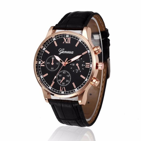 Relógio Luxo Masculino Social Geneva