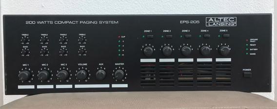 Mixer Amplificado Multi Zona -5 Zonas- Altec Lansing Eps-205