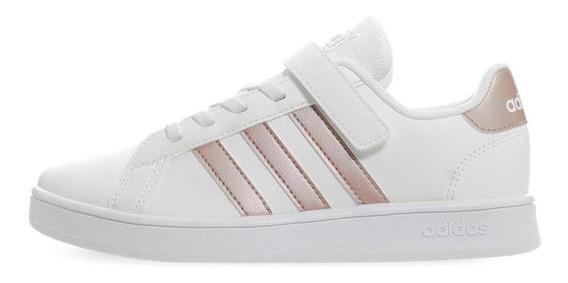 Tenis adidas Grand Court C - Ef0107 - Blanco - Niñas