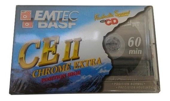 5 Fitas Cassete K7 Virgem Emtec/basf Ce Ii 60min - Lacradas