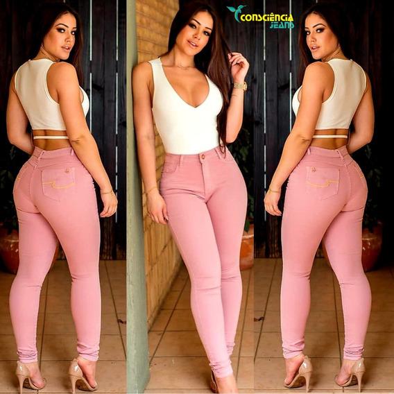 Calça Jeans Feminina Levanta Bumbum Lycra Consciência Jeans
