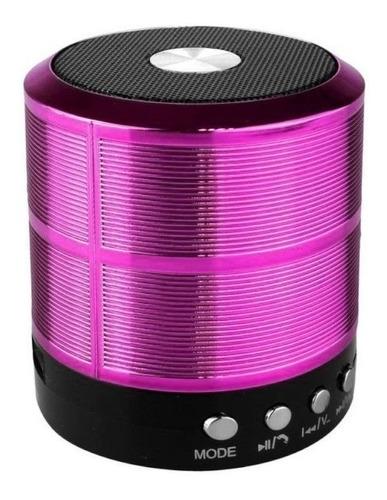 Caixa de som Grasep D-BH887 portátil com bluetooth roxo