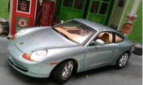 Miniatura Porsche 911 Carrera Cinza 1/18 Motor Max! !!!