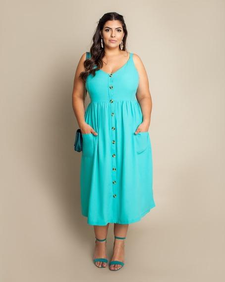 Vestido Plus Size Longuete Mid