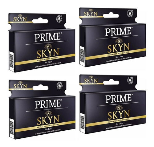 Preservativos Prime Skyn X24 Unidades Sin Latex Mayor Calor