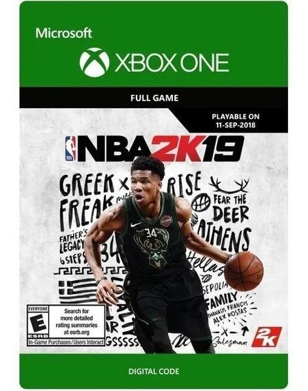 Nba 2k19 Xbox One - 25 Dígitos Digital Online (envio Flash)