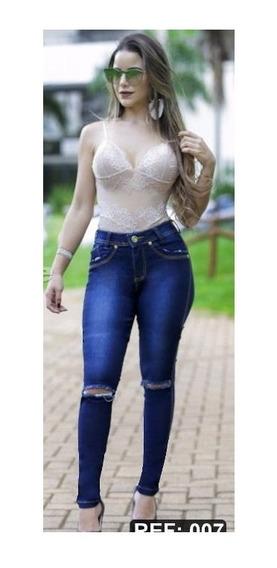 Calcas Femininas Promoção Calça Jeans Feminina Original Blogueira Juju 42 .1