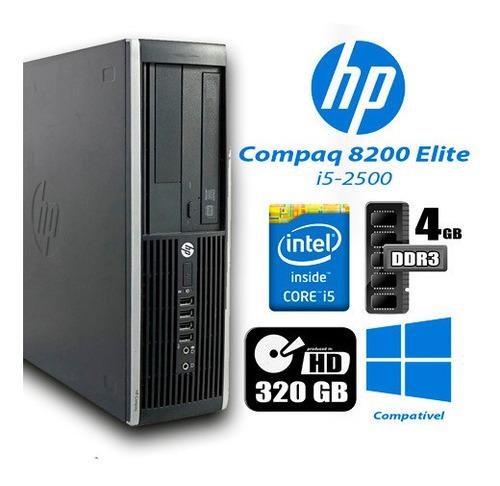 Imagem 1 de 3 de Hp 8200 Elite I5 4gb Ram 320gb Hd + Monitor 18