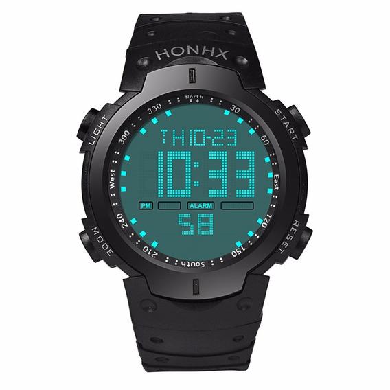 Relógio Masculino Digital Lcd Led Cronômetro À Prova D