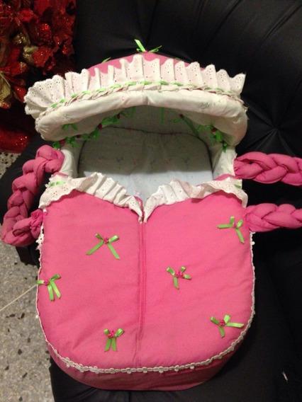 Canastilla O Moises Para Bebes Rosado De Niña Igual A Foto