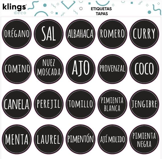 Etiquetas Para Frascos Frases Condimentos Especias Tiza Tapa
