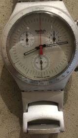 Relógio Swatch Legend Vintage Em Alumínio Irony Chrono.