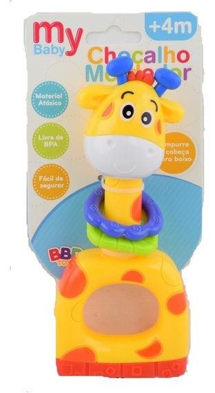 Chocalho Mordedor Girafa - Livre De Bpa Bbr Toys