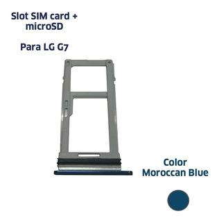 Bandeja Slot Sim Card + Micro Sd LG G7 Thinq G710 4g Lte