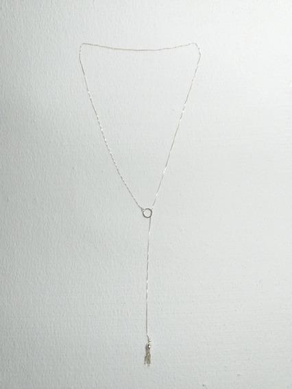Colar De Prata Corrente Veneziana Gravata 60.5cm - Novo