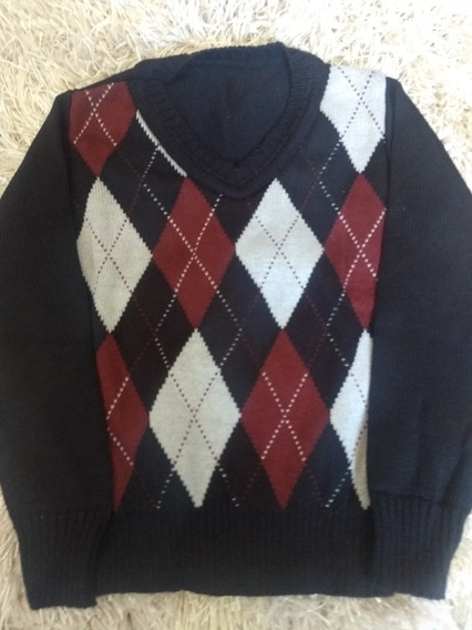 Blusa De Frio Infantil Xadrez Casaco De Menino Tipo Escocês