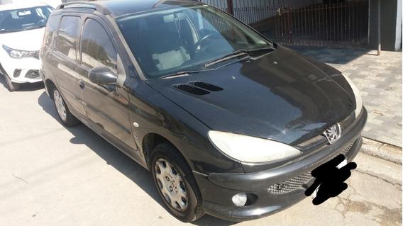 Peugeot 206 Sw 1.4 Presence Flex 2007 Preto - O Mais Barato