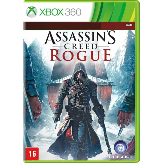Jogo Assassins Creed Rogue Xbox 360 Disco Físico Original Br