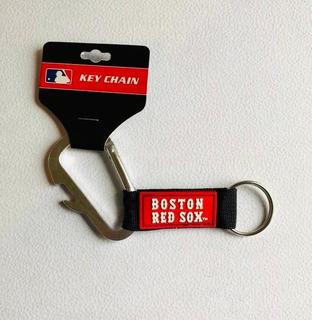 Llavero Carabiner Boston Red Sox, Producto Oficial Mlb