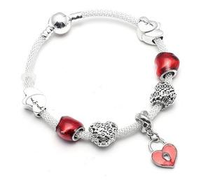 Pulseira Crie E Combine Bracelete Tipo Pandora Com Berloques