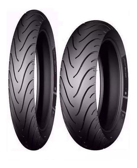 Par Pneu Pilot Street Michelin 60/100-17+ 80/100-14 Biz/pop