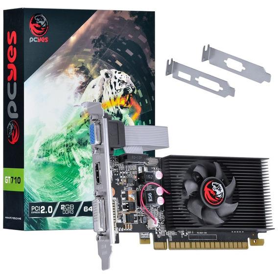 Placa De Video Gt 710 2gb Nvidia Geforce Ddr3 64 Bits Hdmi