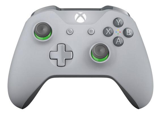 Controle De Xbox One - Wireless - Cinza E Verde - Microsoft