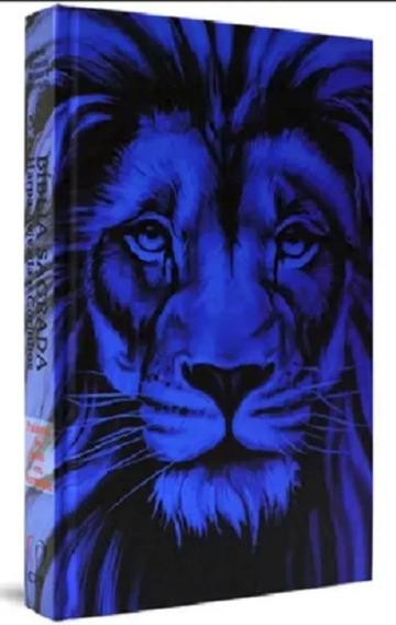 Bíblia Sagrada Com Harpa Para Jovem Capa Dura Leão Azul