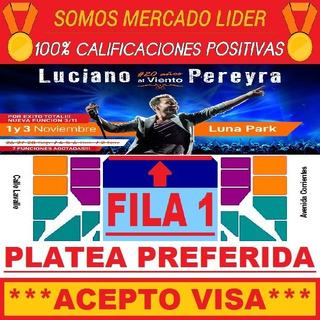 Entradas Luciano Pereyra - Platea Preferida Fila 2 Central !