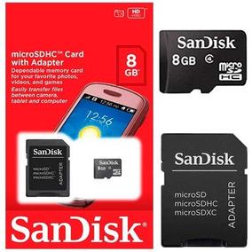 Cartão De Memória Micro Sd 8gb Sandisk Lacrado Original