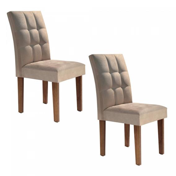 Conjunto 2 Cadeiras Estofadas Hobby Siena Móveis C