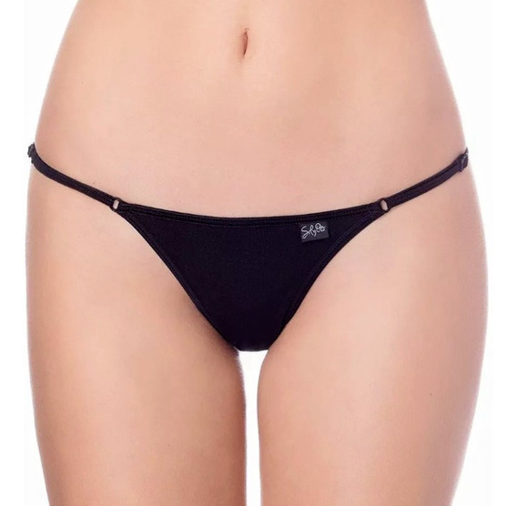 Pack X4 Sol Y Oro Tanga Less Regulable Alg/lycra Liso A 7490