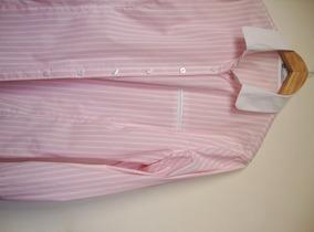 Camisa Listrada Rosinha Ak Office 48 - 100% Algodão
