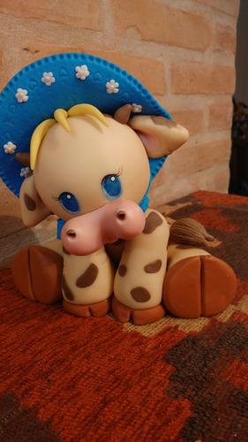 Vaca, Adorno En Porcelana Fría