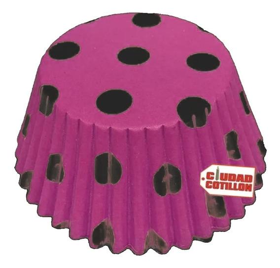 Pirotines N°10 Estampados Lunares Cupcakes Muffins X 15 - Cc