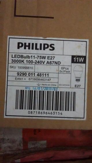 Kit 06 Lâmpadas Philips Led Bulbo11 - 75w E27 3000k