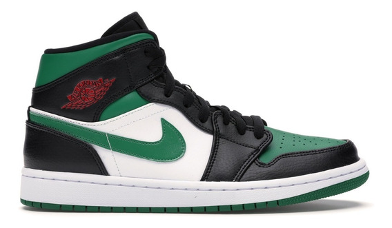 Tenis Nike Air Jordan 1 Mid Pine Green Royal Hype Original