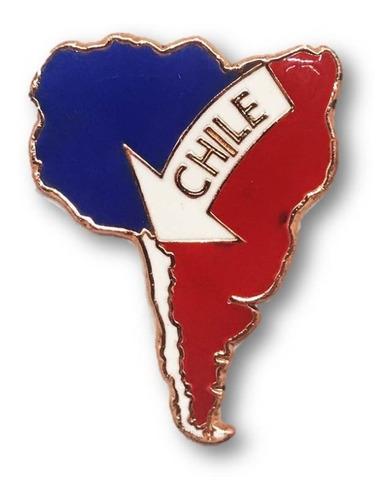 Imagen 1 de 1 de Magnético Chile Sudamérica Cobrizado (6655)